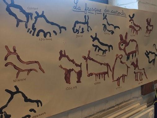 Les fresques des mammouths et aurochs